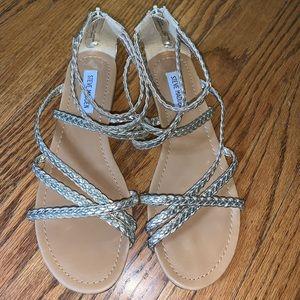 Steve Madden Gold Braided Kyleigh Sandals